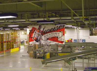 Anheuser - Busch Brewery Company. Giving Tours