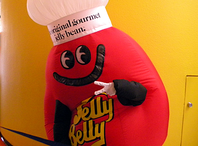 Mr. Jelly Belly at the Jelly Bean Factory in Fairfield.